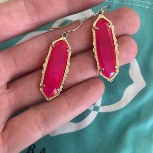 Jewelry - Kendra Scott drop earrings in magenta